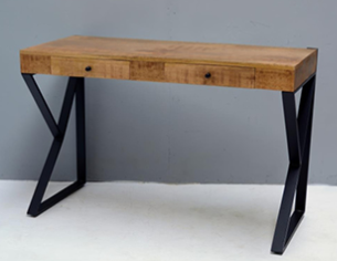 קונסולה 120 ס''מ יוקרתית מעוצבת עץ משולב ברזל