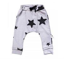 מכנסיים ארוכים עם כוכבים בצבע לבן