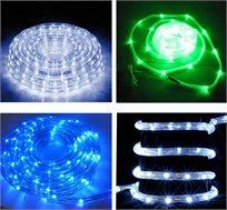 גם יפה וגם ידידותית לסביבה! צינור LED סולארי, 50 נורות, נטען באור יום, בחיפוי פלסטיק איכותי וגמיש!