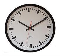 שעון קיר אלמיניום זכוכית רכבת לבן
