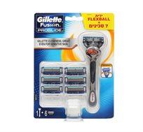 מארז פרוגלייד פלקס בול ידני מכשיר+6 סכינים Gillette