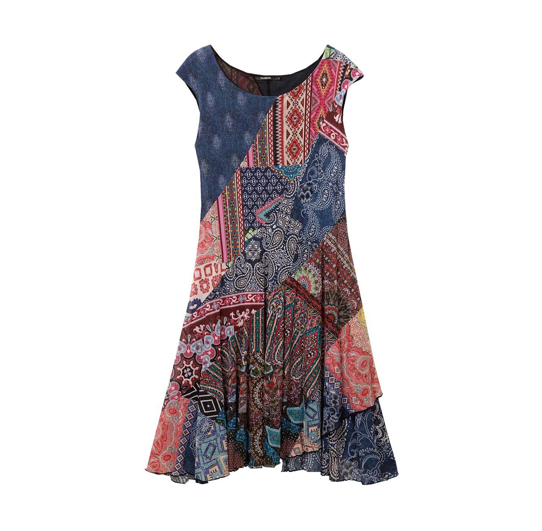 שמלת הדפסים לנשים דגם RASHA - צבעוני