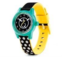 שעון סולארי מסדרת SMILE SOLAR בעיצוב צעיר מבית  Q&Q. נטען ללא סוללה, עשוי פולימר מיוחד ועמיד במים