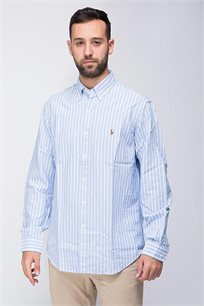 חולצה מכופתרת לגבר POLO RALPH LAUREN בצבע תכלת לבן