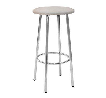 כסא בר גבוה למטבח בריפוד סקאי דגם גמד במבחר גוונים לבחירה