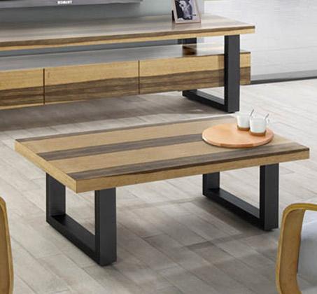 שולחן לסלון בעיצוב מודרני בעל רגלי מתכת דגם וודסטוק
