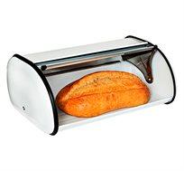ארגז לחם בגימור מתכת באדום ולבן honey can do