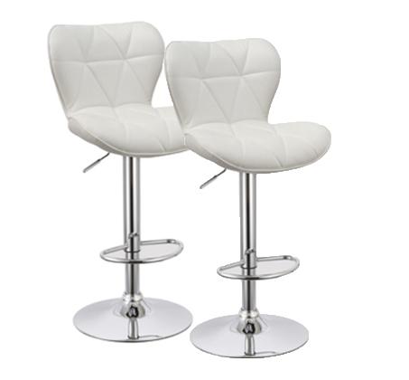 זוג כסאות לבר מעוצבים ומרופדים עם מבנה מושב ייחודי ונוח לישיבה ותמיכה בגב  - תמונה 2