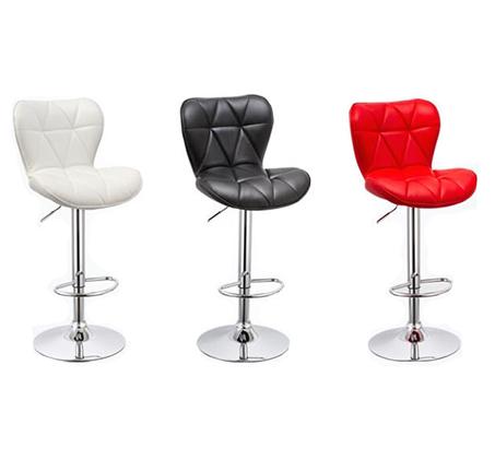 זוג כסאות לבר מעוצבים ומרופדים עם מבנה מושב ייחודי ונוח לישיבה ותמיכה בגב  - תמונה 3