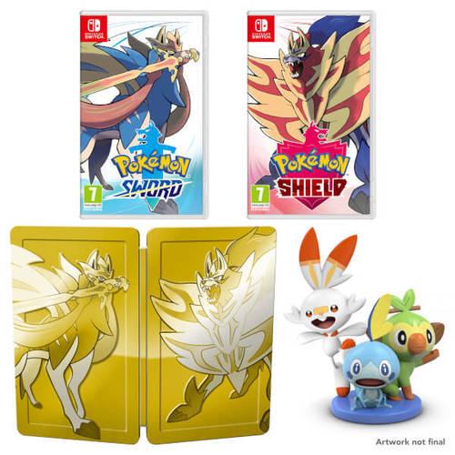 Pokemon Sword + Shield Double Pack Nintendo Switch פוקימון מכירה מוקדמת! הטבות למזמינים מראש בלבד!
