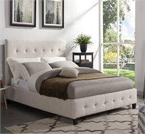 """מיטה זוגית במידות 140X190 ס""""מ מעוצבת ומרופדת בד פוליאסטר נעים"""
