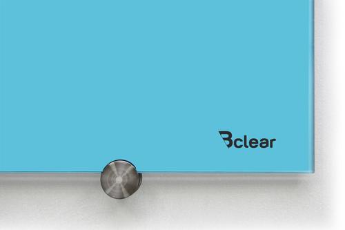 לוח מחיק זכוכית מגנטי צבע טורקיז פסטל מסדרת Bclear COLOR - תמונה 2