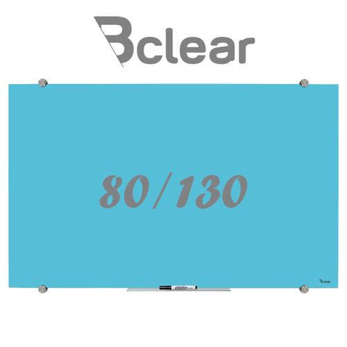 לוח מחיק זכוכית מגנטי צבע טורקיז פסטל מסדרת Bclear Color