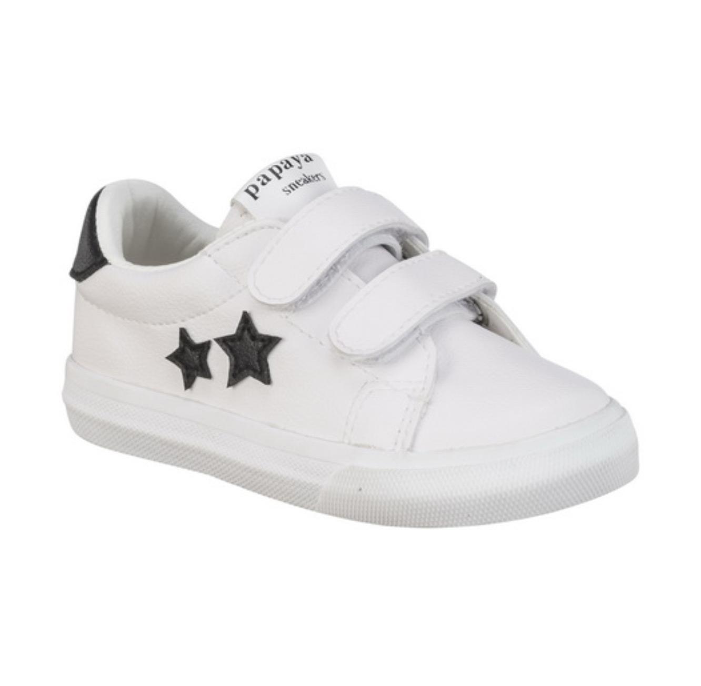 סניקרס גילי כוכבים לילדים - לבן