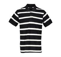 חולצת פולו פיקה 2 פסים Offset לגברים במגוון צבעים לבחירה