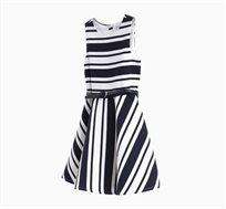 שמלת פסים OVS לילדות ללא שרוולים - כחול ולבן