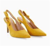 נעלי עקב עם פפיון בצד Promod לנשים בצבע צהוב