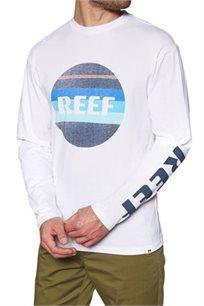 חולצת טי שרט ארוכה Reef גזרת Slim לגברים בצבע לבן
