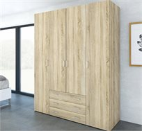 ארון 1.5 מ' עם 4 דלתות ו-3 מגירות דגם אנגל HOME DECOR