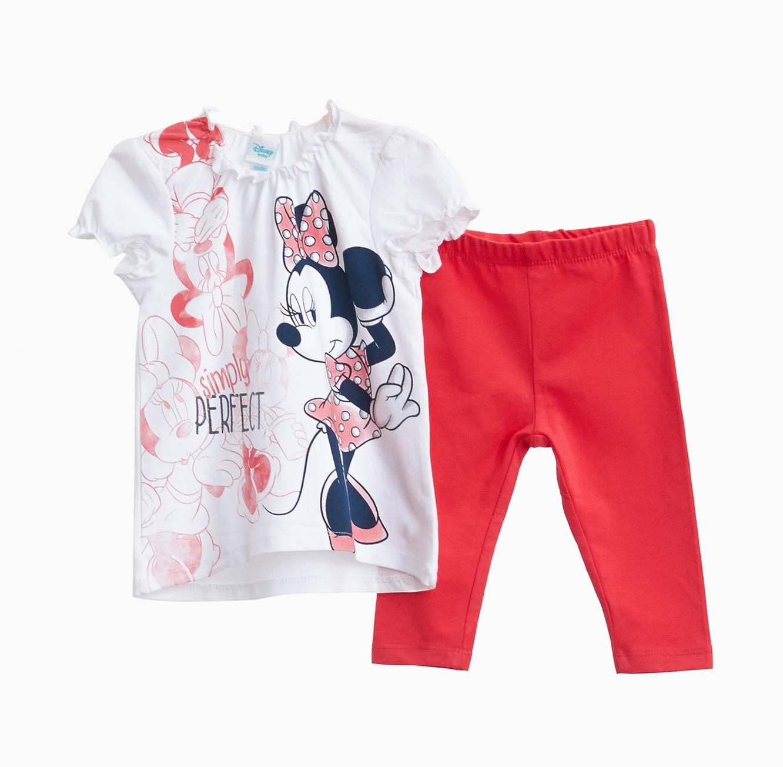 חליפה OVS לתינוקות  וילדות - לבן וורוד עם הדפס מיני מאוס