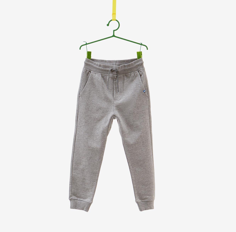 מכנסים עם שרוך OVS לילדים - אפור