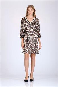 שמלה הדפס מנומר - CUBiCA