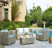 מערכת ישיבה GRAY כוללת כורסה זוגית, 2 כורסאות ושולחן