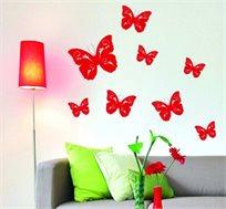 מדבקת קיר - פרפרים בתפזורת, בגדלים שונים לעיצוב אווירת חופש אביבית