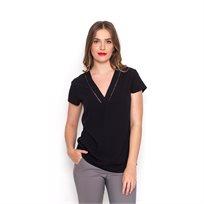 חולצת ורונה V שחורה