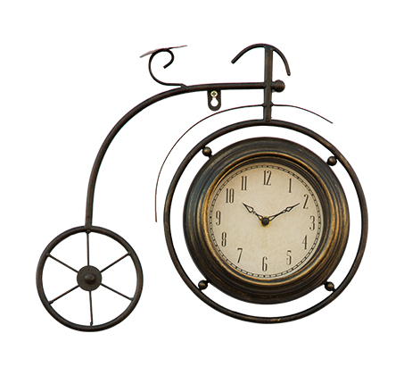 שעון קיר אופניים מטאלי העשוי מתכת