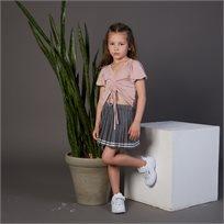 חצאית Oro לילדות (מידות 2-7 שנים) אפור