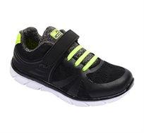 נעלי ספורט לילדים FILA דגם Yura - שחור וירוק ליים