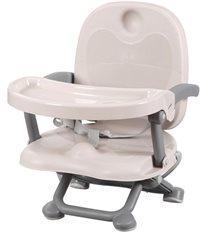 מושב הגבהה לתינוק קיט קט מתקפל עם מגש וריפוד שליף ורחיץ - אפור