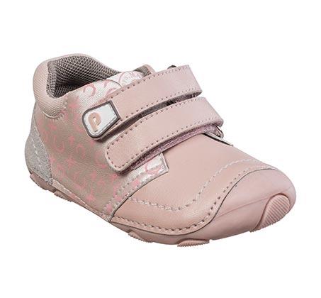 נעלי צעד ראשון לבנות דגם סופטי קלאסי - ורוד