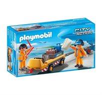 פליימוביל צוות קרקע ומסוע מטענים + דמות פליימוביל מתנה!