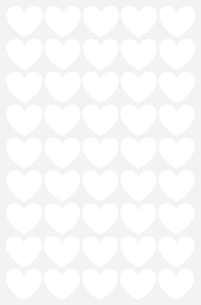 מדבקות קיר לבבות לבנים