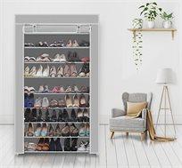 מעמד קל לנעליים בעל 10 מדפים לאחסון של עד כ-50 זוגות