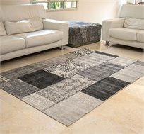 """שטיח סלוני דגם """"וינטג פאטצ'"""" בצבע שחור מידות לבחירה"""