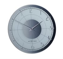 שעון קיר זכוכית בעיצוב מרשים דגם FANCY עגול