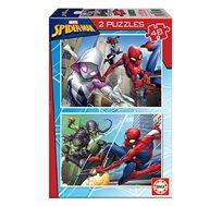 משחק הרכבה הכולל 2 פאזלים 48 חלקים בדגמי SPIDER-MAN