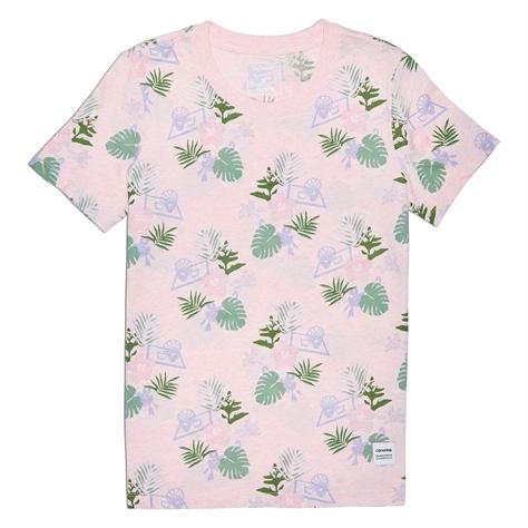 Converse נשים// חולצת הדפס דקל ורוד