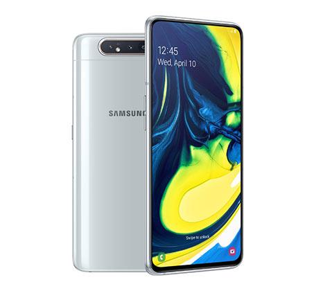 """סמארטפון Galaxy A80 מסך """"6.7 זיכרון 8GB+128GB מצלמה 48MP+8MP אחריות יבואן רשמי"""