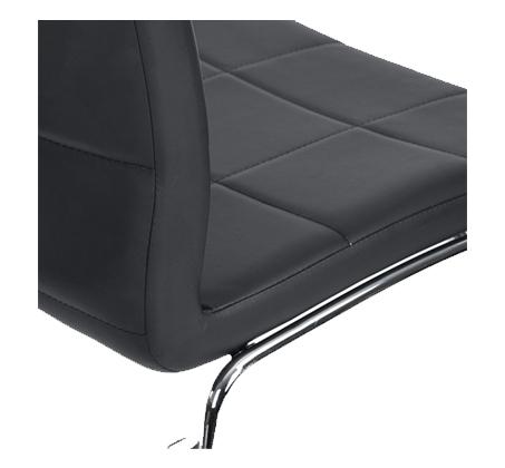 כיסא מודרני בעל משענת מרופדת בציפוי דמוי עור איכותי במגוון צבעים לבחירה דגם אדגר Homax - תמונה 5
