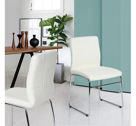 כיסא מודרני בעל משענת מרופדת בציפוי דמוי עור איכותי במגוון צבעים לבחירה דגם אדגר Homax - תמונה 2