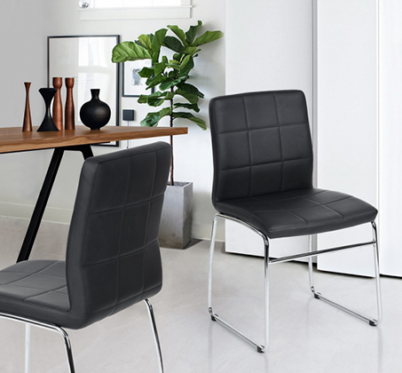כסא מרופד דמוי עור HOMAX דגם אדגר במגוון צבעים