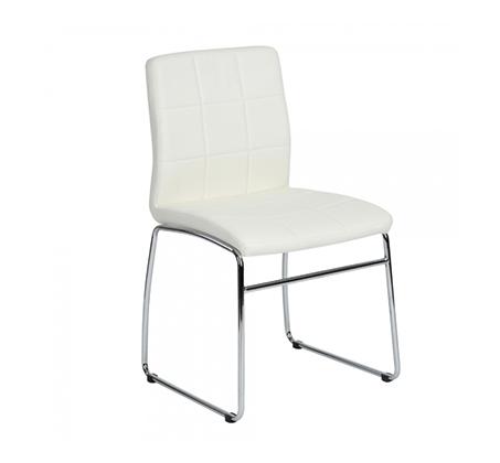 כיסא מודרני בעל משענת מרופדת בציפוי דמוי עור איכותי במגוון צבעים לבחירה דגם אדגר Homax - תמונה 4