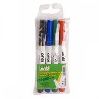 סט 4 צבעים עטי סימון ללוח מחיק Arti