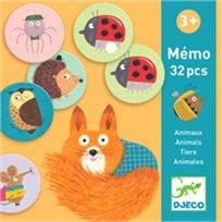 משחק זכרון - חיות יער - DJECO