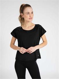 DIADORA נשים // חולצה ספורטיבית שחור