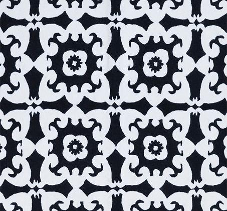 שטיח בגווני שחור ולבן עשוי צמר אוסטרלי באיור ריבועים וקשתות על רקע לבן בגדלים לבחירה - משלוח חינם - תמונה 2